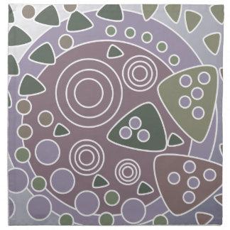 Círculos y formas abstractos frescos servilletas imprimidas