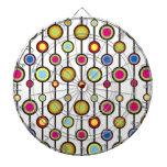 Círculos y línea diseño tabla dardos