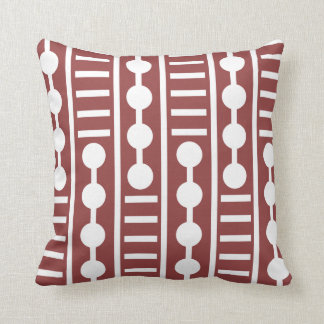 Círculos y líneas rojos modernos almohada