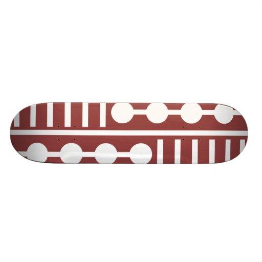 Círculos y líneas rojos modernos tablas de skate