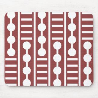 Círculos y líneas rojos modernos tapete de raton
