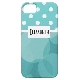 Círculos y lunares azules del trullo iPhone 5 carcasas