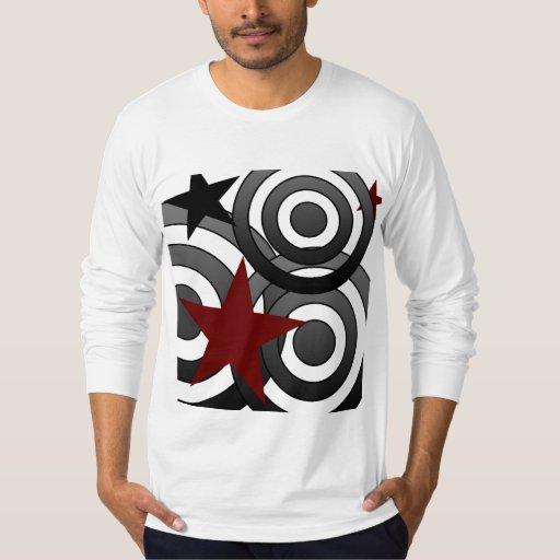 Círculos y modelo de estrellas camisas