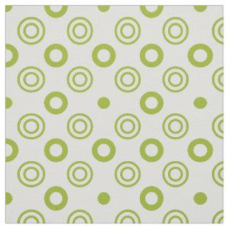 Círculos y modelo de puntos blancos verdes telas