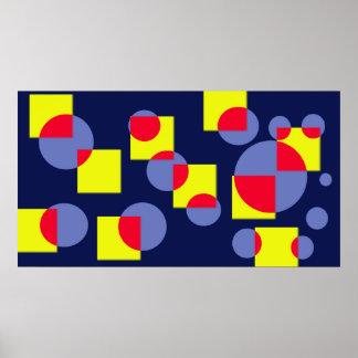 Círculos y posters de los cuadrados