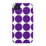 Círculos y puntos del lunar: Lunares púrpuras iPhone 4 Funda