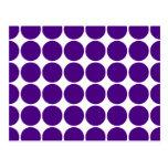 Círculos y puntos del lunar: Lunares púrpuras Postal