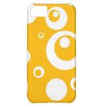 Círculos y puntos en amarillo del mango