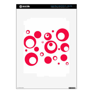 Círculos y puntos en geranio pegatinas skins para iPad 3