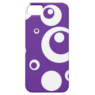 Círculos y puntos en púrpura del jugo de uva funda para iPhone 5 barely there