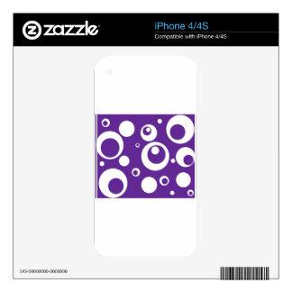 Círculos y puntos en púrpura del jugo de uva calcomanía para el iPhone 4