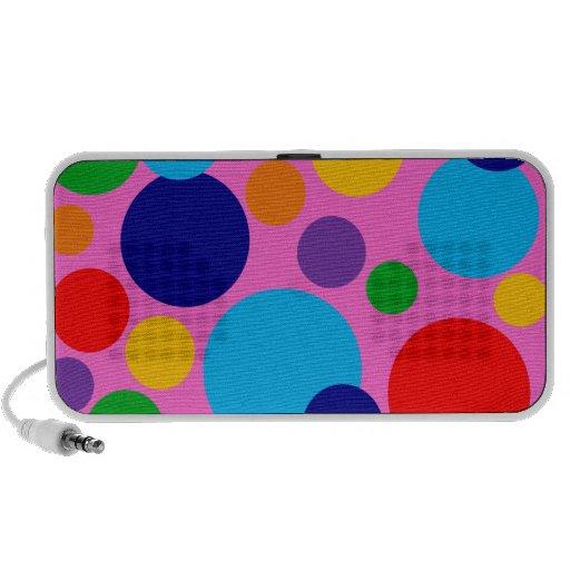 Círculos y puntos multicolores adaptables portátil altavoces