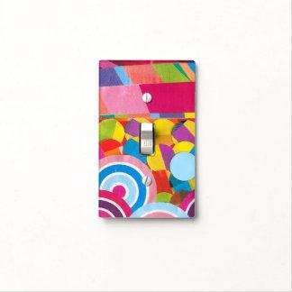 Círculos y rayas del confeti cubierta para interruptor