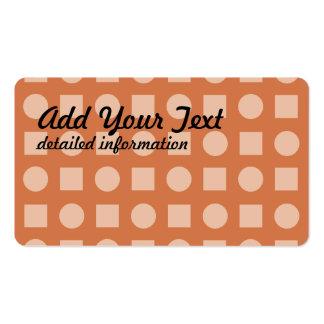 Círculos y rojo anaranjado del cuadrado tarjetas de visita