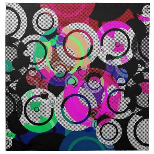Círculos y singularidades de la diversión servilletas