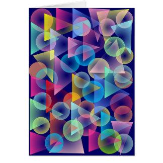 Círculos y triángulos tarjeta de felicitación