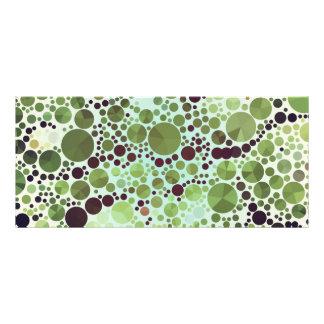 Círculos y triángulos verdes geométricos de los tarjetas publicitarias