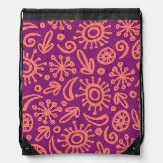 Circumago Sketchy Abstract Pattern Drawstring Bag