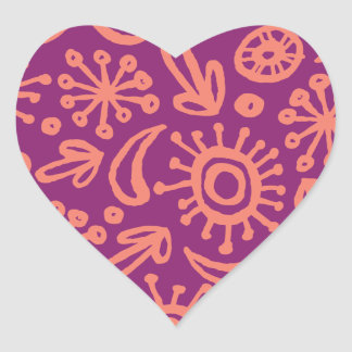 Circumago Sketchy Abstract Pattern Heart Sticker