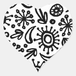 Circumago Sketchy Abstract Pattern Heart Sticker