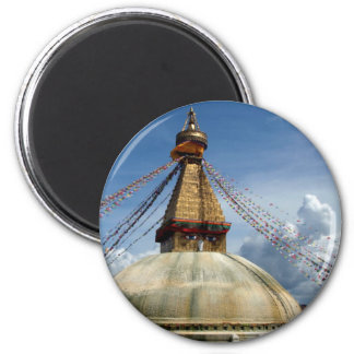 Circumambulating the Stupa Boudha 2 Inch Round Magnet