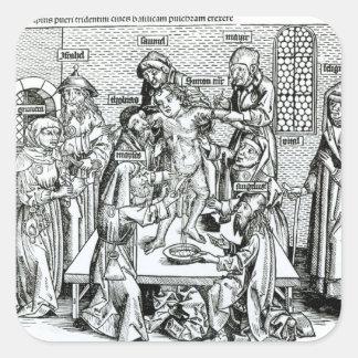 Circumcision, from 'Liber Chronicarum' Square Sticker