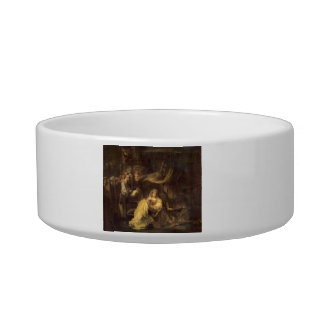 Circumcision of Christ by Rembrandt Cat Food Bowls