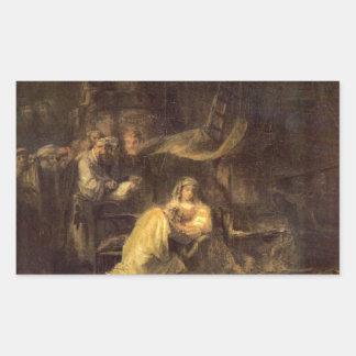 Circumcision of Christ by Rembrandt Rectangular Sticker