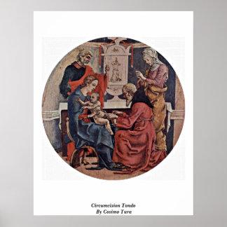 Circumcision Tondo By Cosimo Tura Poster