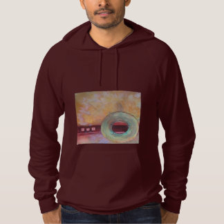 Circumscribe - mixed media hoodie