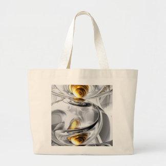 Circumvoluted Abstract Large Tote Bag