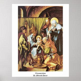 Circuncisión de Albrecht Durer Poster