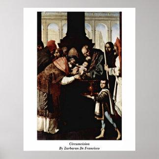 Circuncisión de Zurbaran De Francisco Poster