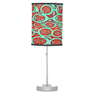Circunda repentinamente - la lámpara de mesa roja,