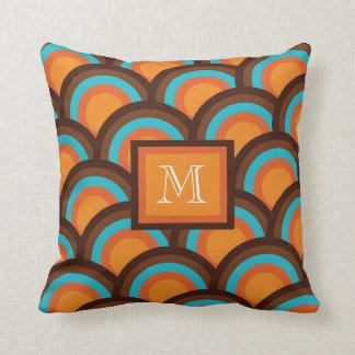 Circunde el modelo, almohada del monograma - trío cojín decorativo