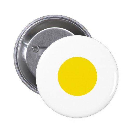 Circunde el transp amarillo 1 los regalos de Zazzl Pin Redondo 5 Cm