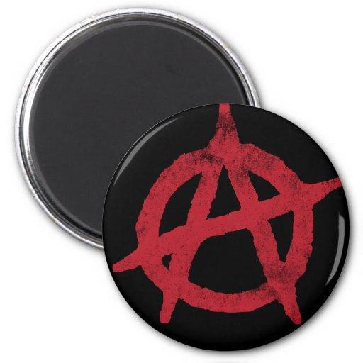 """""""circunde"""" un símbolo de la anarquía imanes para frigoríficos"""