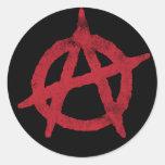 """""""circunde"""" un símbolo de la anarquía etiqueta redonda"""