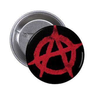 """""""circunde"""" un símbolo de la anarquía pin redondo de 2 pulgadas"""