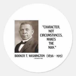 Circunstancias del carácter del Booker T. Pegatina Redonda