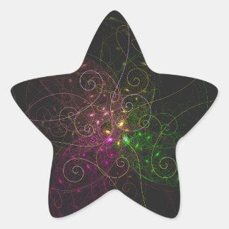 circunvoluciones tricolores pegatina en forma de estrella