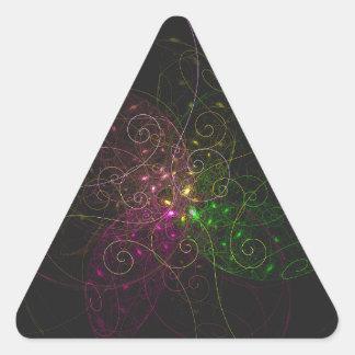 circunvoluciones tricolores pegatina triangular