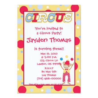 ¡circus1 la copia, le invitan a un fiesta del comunicados personalizados
