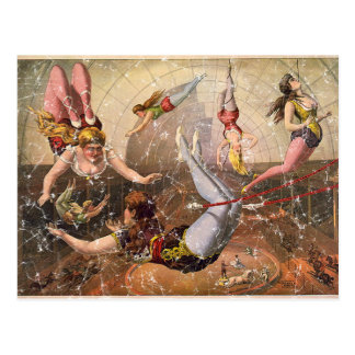 Circus-1890 - distressed postcard