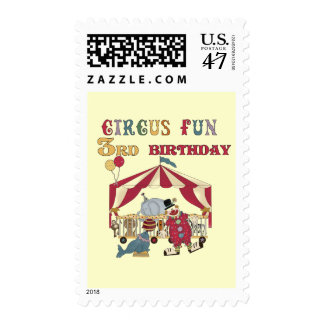 Circus 3rd Birthday Tshirts and Gifts Postage