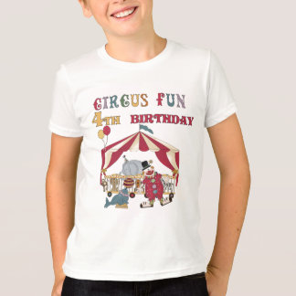 Circus 4th Birthday Tshirts and Gifts