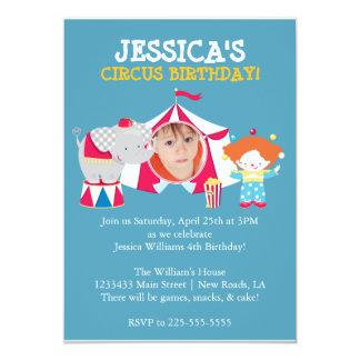 Circus 5x7 Paper Invitation Card