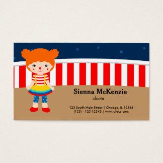 Circus  Acrobat Business Card
