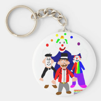 Circus Acts Basic Round Button Keychain