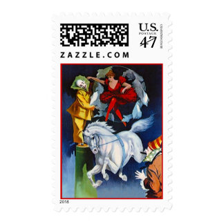 CIRCUS ACTS TRICK RIDING ARTIST CLOWNS STAMPS! POSTAGE STAMP